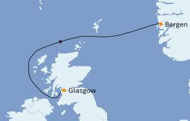 Itinerario de crucero Fiordos y Noruega 3 días a bordo del Le Dumont d'Urville