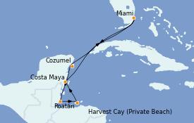 Itinerario de crucero Caribe del Oeste 8 días a bordo del MS Sirena