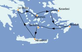 Itinerario de crucero Grecia y Adriático 7 días a bordo del Azamara Pursuit