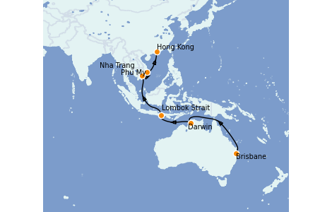 Itinerario del crucero Australia 2023 16 días a bordo del Royal Princess