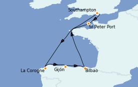Itinerario de crucero Mediterráneo 8 días a bordo del Queen Elizabeth