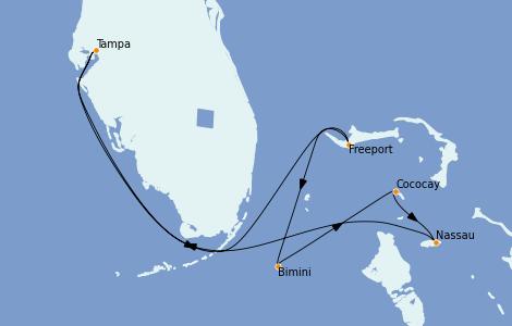Itinerario del crucero Bahamas 7 días a bordo del Serenade of the Seas