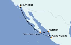 Itinerario de crucero Riviera Mexicana 8 días a bordo del Navigator of the Seas