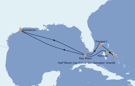 Itinerario del crucero Bahamas 8 días a bordo del Carnival Dream