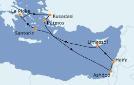 Itinerario de crucero Grecia y Adriático 8 días a bordo del Norwegian Spirit