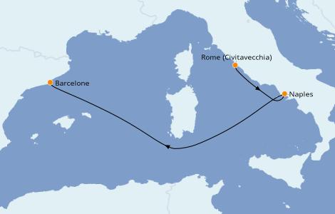 Itinerario del crucero Mediterráneo 3 días a bordo del Harmony of the Seas