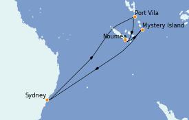 Itinerario de crucero Australia 2022 10 días a bordo del Ovation of the Seas