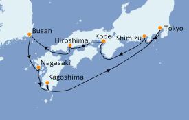 Itinerario de crucero Asia 11 días a bordo del Seven Seas Explorer