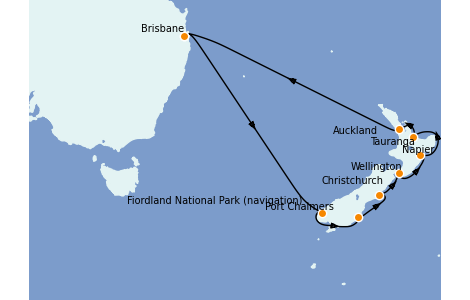 Itinerario del crucero Australia 2022 14 días a bordo del Coral Princess