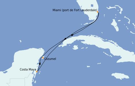 Itinerario del crucero Caribe del Oeste 5 días a bordo del Caribbean Princess