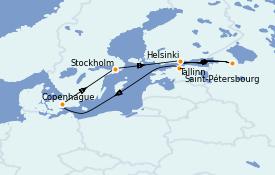 Itinerario de crucero Mar Báltico 8 días a bordo del Voyager of the Seas