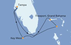 Itinerario de crucero Bahamas 6 días a bordo del Norwegian Jade