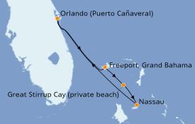 Itinerario de crucero Bahamas 5 días a bordo del Norwegian Sun