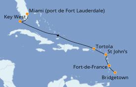 Itinerario de crucero Caribe del Este 8 días a bordo del Silver Whisper