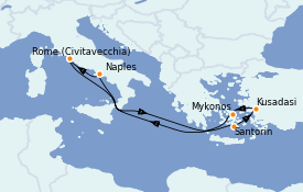 Itinerario de crucero Mediterráneo 8 días a bordo del Odyssey of the Seas
