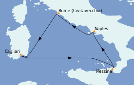 Itinerario de crucero Mediterráneo 5 días a bordo del Costa Smeralda