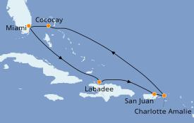 Itinerario de crucero Caribe del Este 8 días a bordo del Symphony of the Seas