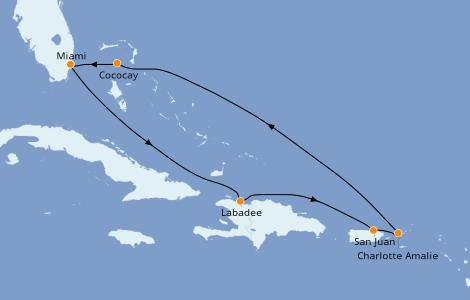Itinerario del crucero Caribe del Este 7 días a bordo del Symphony of the Seas