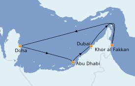 Itinerario de crucero Dubái 8 días a bordo del Costa Diadema