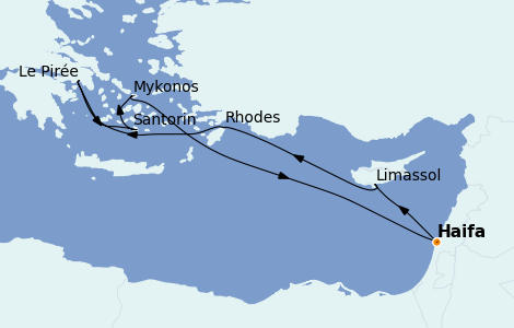 Itinerario del crucero Grecia y Adriático 7 días a bordo del Rhapsody of the Seas