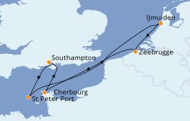 Itinerario de crucero Islas Británicas 8 días a bordo del Queen Victoria
