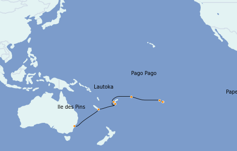 Itinerario del crucero Australia 2022 14 días a bordo del Norwegian Spirit