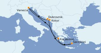 Itinerario de crucero Grecia y Adriático 8 días a bordo del Rhapsody of the Seas