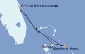 Itinerario de crucero Caribe del Este 5 días a bordo del Carnival Elation