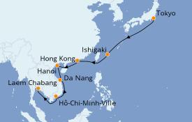 Itinerario de crucero Asia 15 días a bordo del Seven Seas Voyager