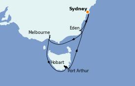 Itinerario de crucero Australia 2022 9 días a bordo del Sapphire Princess
