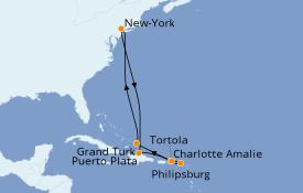 Itinerario de crucero Trasatlántico y Grande Viaje 2022 11 días a bordo del Norwegian Gem