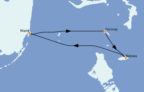 Itinerario del crucero Caribe del Este 4 días a bordo del Freedom of the Seas