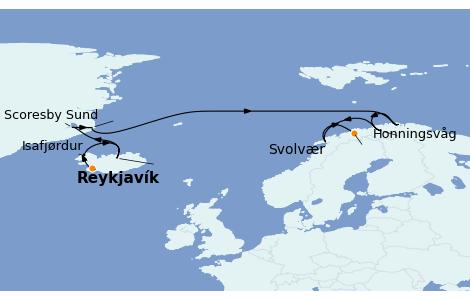 Itinerario del crucero Fiordos y Noruega 11 días a bordo del Norwegian Star