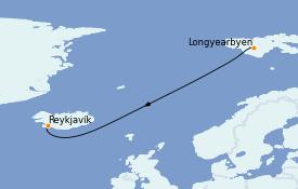 Itinerario de crucero Exploración polar 16 días a bordo del Le Commandant Charcot
