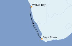 Itinerario de crucero África 5 días a bordo del MSC Orchestra