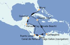 Itinerario de crucero Caribe del Oeste 12 días a bordo del Norwegian Pearl
