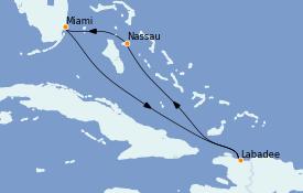 Itinerario de crucero Bahamas 6 días a bordo del Radiance of the Seas