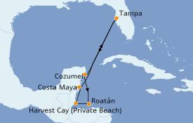 Itinerario de crucero Trasatlántico y Grande Viaje 2022 8 días a bordo del Norwegian Dawn
