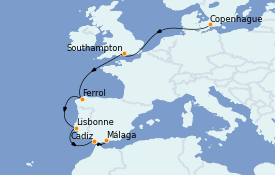 Itinerario de crucero Mediterráneo 9 días a bordo del MSC Grandiosa