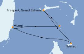 Itinerario de crucero Bahamas 4 días a bordo del Norwegian Sky