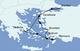 Itinerario de crucero Grecia y Adriático 9 días a bordo del Azamara Pursuit