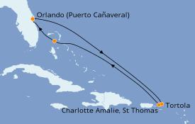 Itinerario de crucero Caribe del Este 8 días a bordo del Norwegian Breakaway