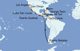 Itinerario de crucero Riviera Mexicana 17 días a bordo del MS Insignia