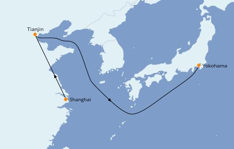 Itinerario del crucero Asia 8 días a bordo del Queen Elizabeth