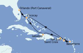 Itinerario de crucero Caribe del Este 9 días a bordo del Mariner of the Seas