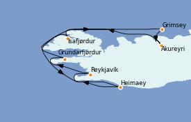 Itinerario de crucero Exploración polar 8 días a bordo del Le Dumont d'Urville