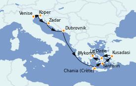 Itinerario de crucero Grecia y Adriático 10 días a bordo del Azamara Journey