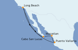 Itinerario de crucero Riviera Mexicana 8 días a bordo del Carnival Panorama