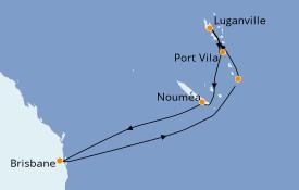 Itinerario de crucero Australia 2021 10 días a bordo del Radiance of the Seas