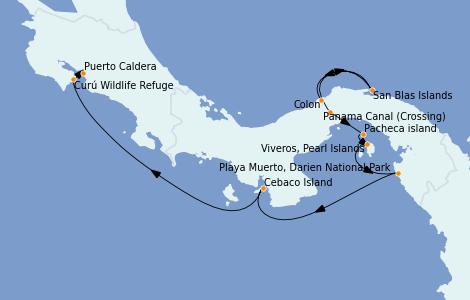 Itinerario del crucero Caribe del Oeste 10 días a bordo del Le Champlain